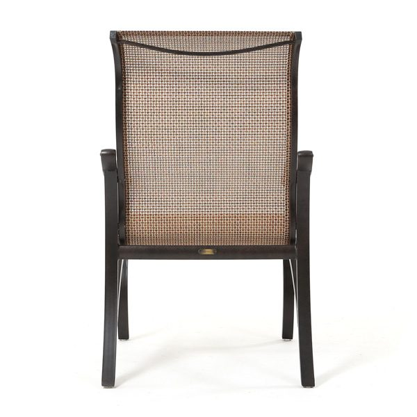 Volare sling outdoor dining chair back view