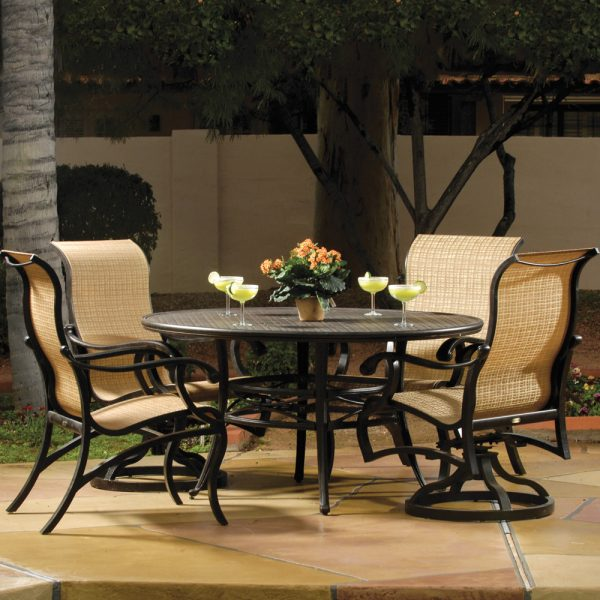 Mallin Volare sling outdoor dining furniture