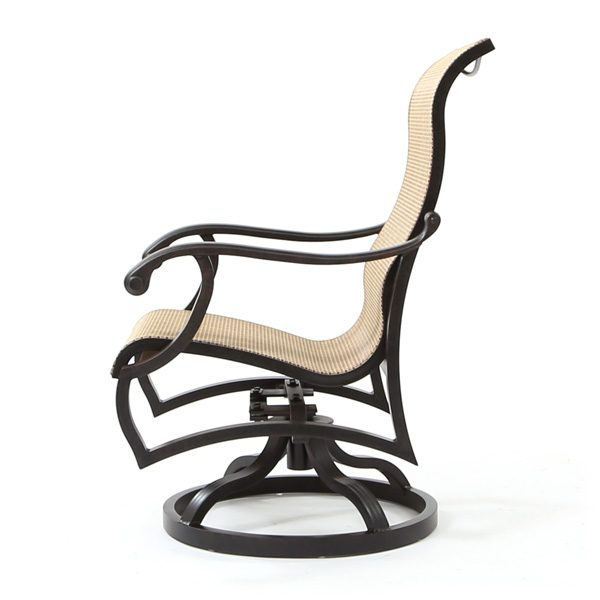 Volare sling aluminum swivel rocker side view