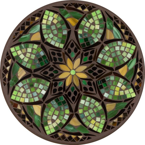 "18"" round Arenal glass mosaic table top"