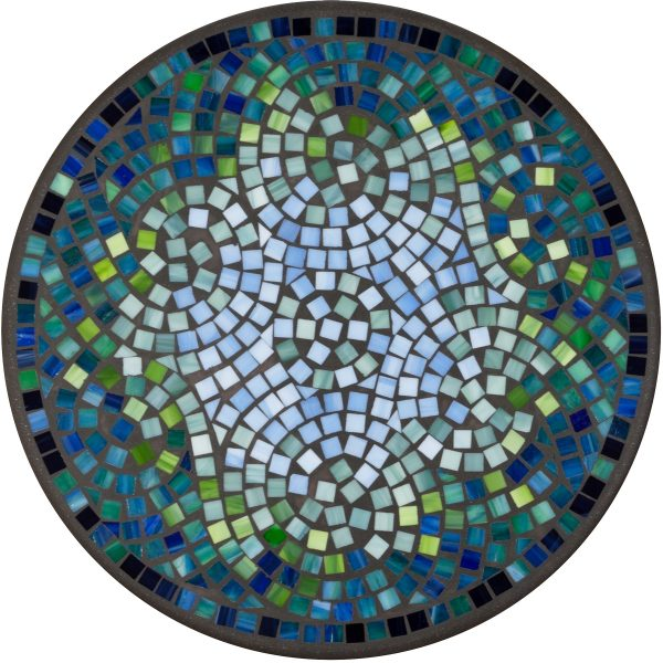 """18"""" round glass mosaic table top - Belize"""