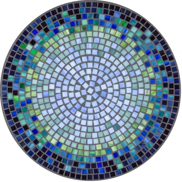"18"" round mosaic table top - Lagoon Kenilworth"