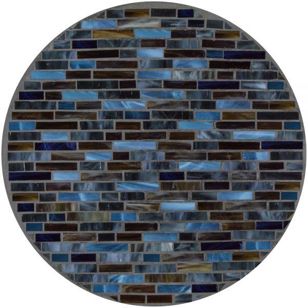 "18"" round mosaic table top - Midnight Cambridge"