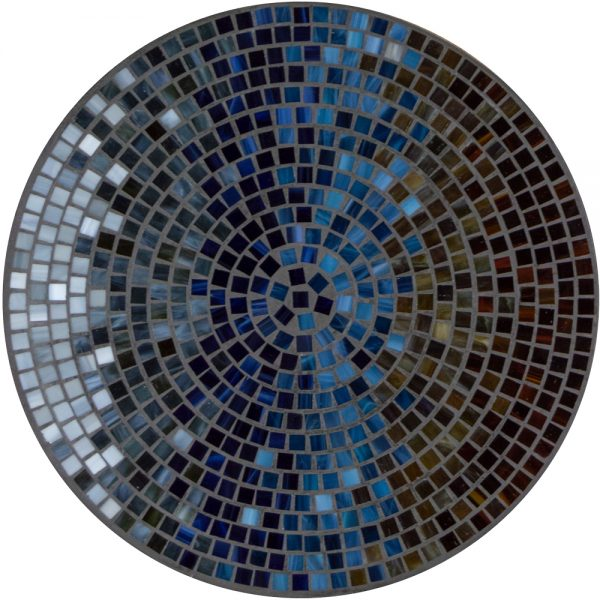 """18"""" round mosaic table top - Midnight Galena"""