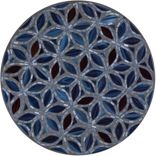 "18"" round mosaic table top - Midnight Shorewood"