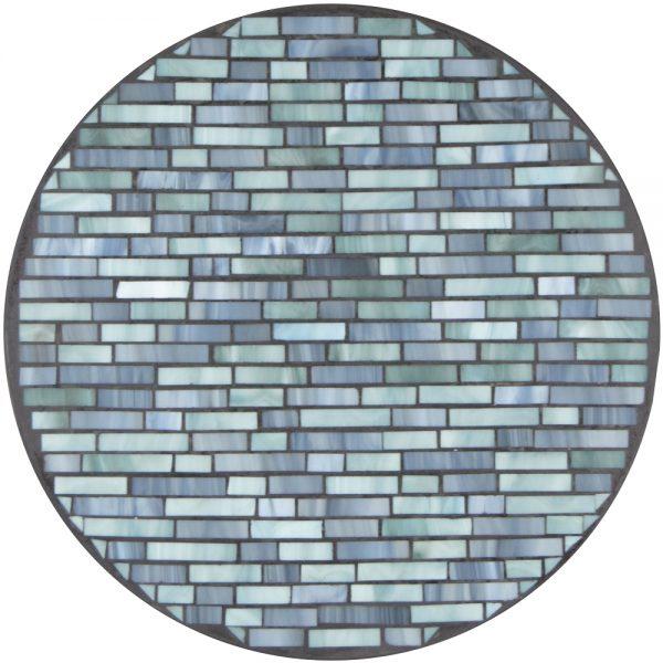 "18"" round mosaic table top - Mist Cambridge"