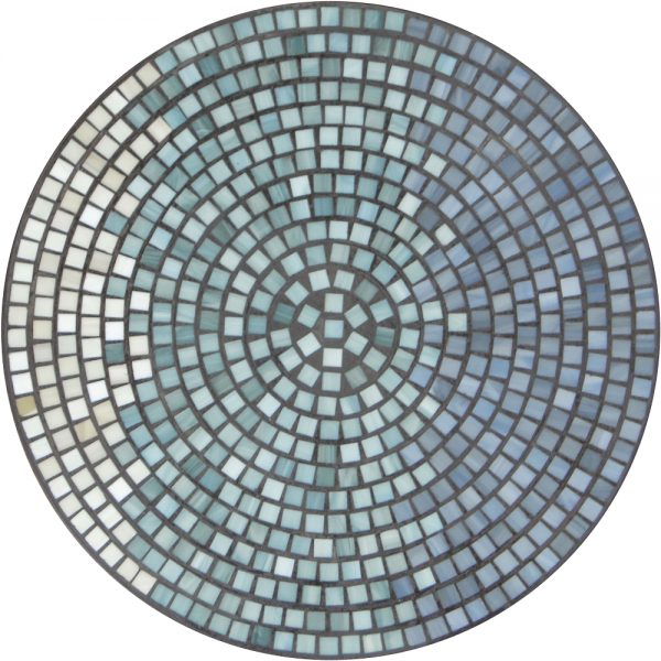 """18"""" round mosaic table top - Mist Galena"""