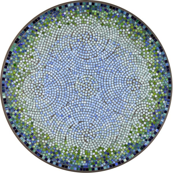 """Belize outdoor 42"""" round mosaic table top - Available in multiple sizes and shapes"""