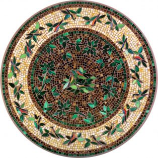 "Finch 42"" round outdoor mosaic table top - Available in multiple sizes and shapes"