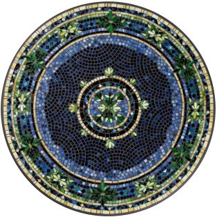 "Lake Como 42"" round outdoor mosaic table top - Available in multiple sizes and shapes"