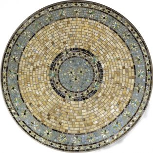 "Malibu 42"" round outdoor mosaic table top - Available in multiple sizes and shapes"