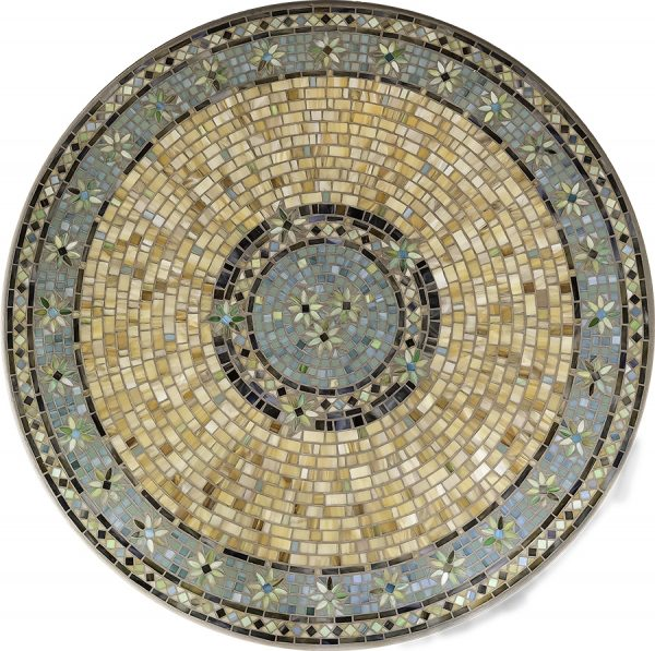 """Malibu 42"""" round outdoor mosaic table top - Available in multiple sizes and shapes"""