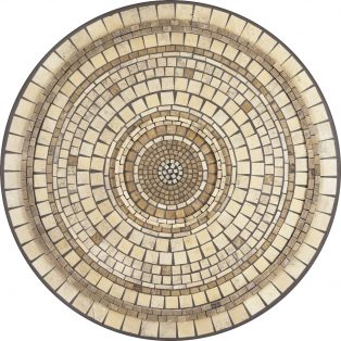 "Elements Marble stone outdoor 42"" round mosaic table top - Available in multiple sizes and shapes"