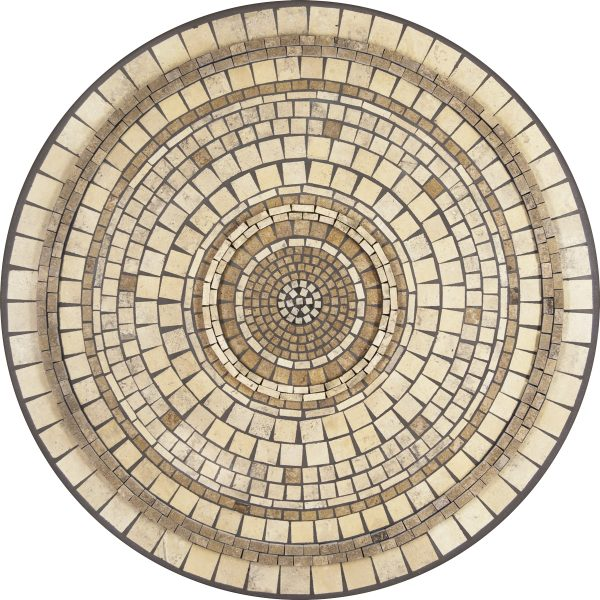 """Elements Marble stone outdoor 42"""" round mosaic table top - Available in multiple sizes and shapes"""