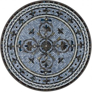 "Roma 42"" round outdoor mosaic table top - Available in multiple sizes and shapes"