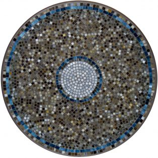 "Elements Slate glass outdoor 42"" round mosaic table top - Available in multiple sizes and shapes"