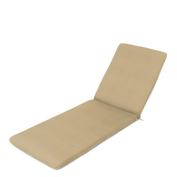 Slab chaise lounge cushion with ties at back