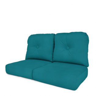Wicker love seat cushion