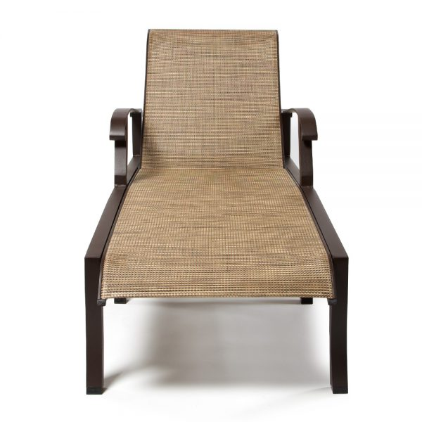 Cortland Sling Chaise Lounge Front