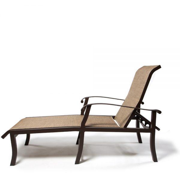 Cortland Sling Chaise Lounge Side