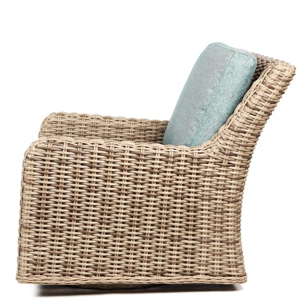 Laurent Swivel Club Chair Dw Side
