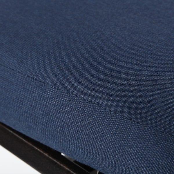 Mallin Armless Slat Back Barstool Sindigo Fabric