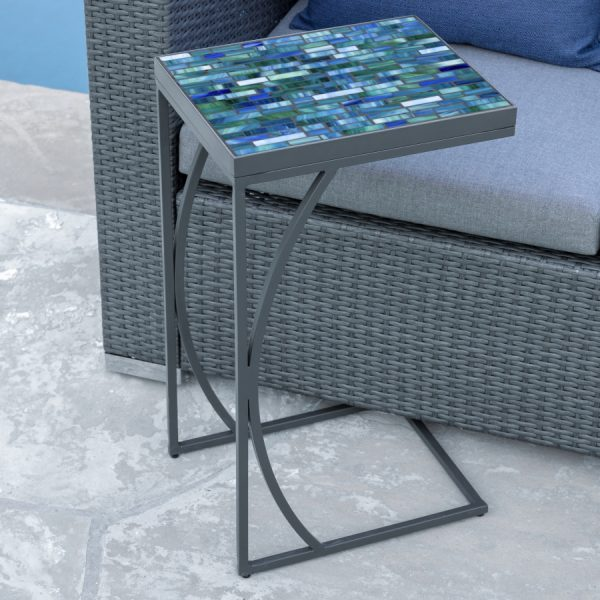 KNF - Neille Olson C-Table with a Mosaic top