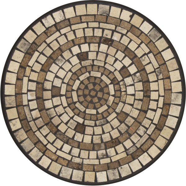 """18"""" round Elements Marble stone mosaic table top"""