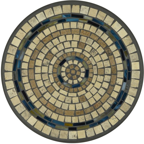 """18"""" round Elements Slate stone mosaic table top"""
