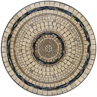 "Elements Slate stone outdoor 42"" round mosaic table top - Available in multiple sizes and shapes"