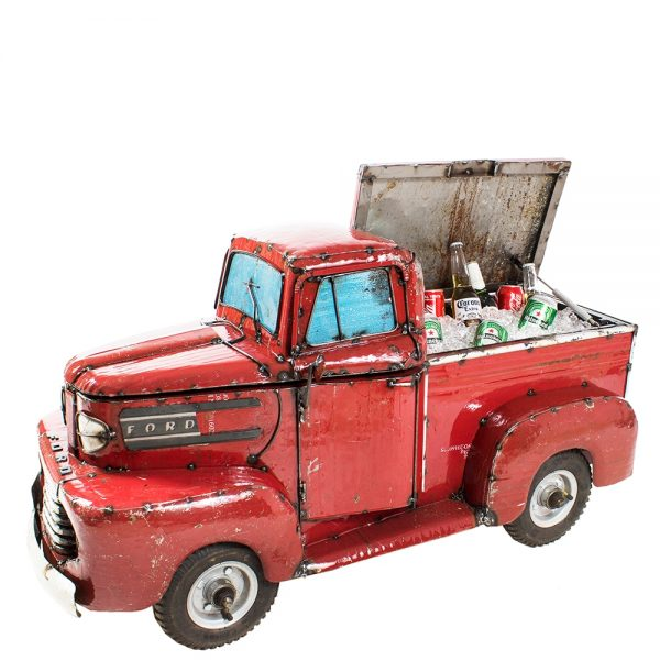 Ford pick up truck cooler - Red