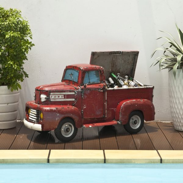 Ford truck metal beverage cooler