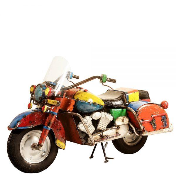 Metal motorcycle beverage cooler