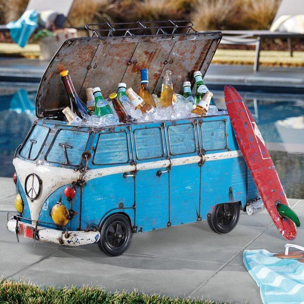 VW Bus metal beverage cooler