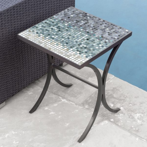 KNF - Neille Olson outdoor Mist Galena mosaics table