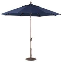 9' Market Umbrella with Navy Blue Fabric