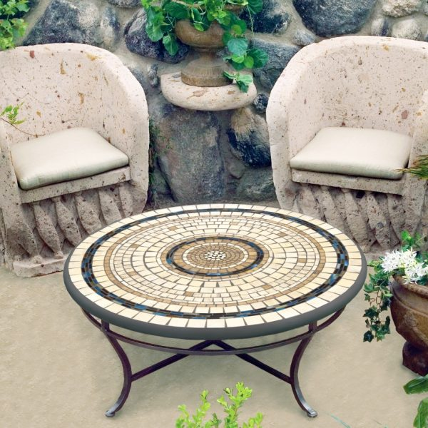 Neille Olson Elements Slate stone mosaic outdoor table