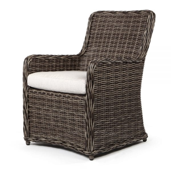 Grayhawk dining arm chair with Hickory weave