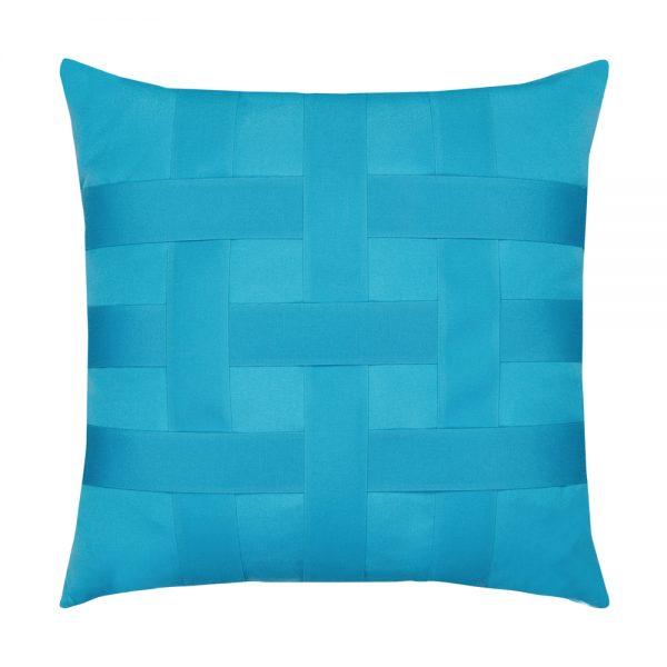20 Square Designer Throw Pillow Basketweave Azure