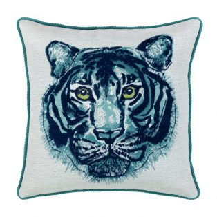 20 Square Designer Throw Pillow Bengal Midnight Corded