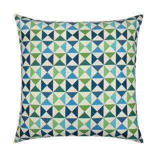 20 Square Designer Throw Pillow Bermuda