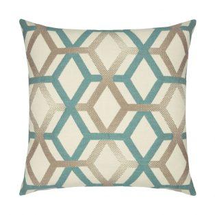 20 Square Designer Throw Pillow Lagoon Lines