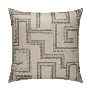 20 Square Designer Throw Pillow Maze Slate