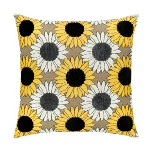 20 Square Designer Throw Pillow Sunflower Field