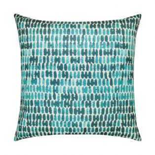 20 Square Designer Throw Pillow Thumbprint Aruba