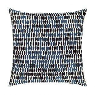 20 Square Designer Throw Pillow Thumbprint Indigo