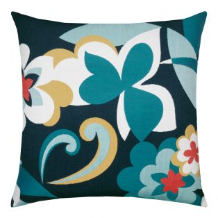 22 Square Designer Throw Pillow Floral Impact