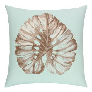 22 Square Designer Throw Pillow Glacier Leaf