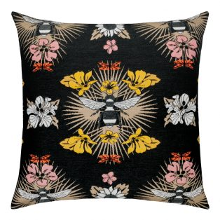 22 Square Designer Throw Pillow Honey Bee