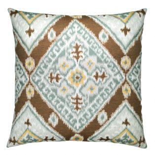 22 Square Designer Throw Pillow Ikat Diamond Caramel